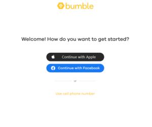 bumble register