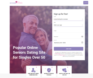 Seniorstodate sign up